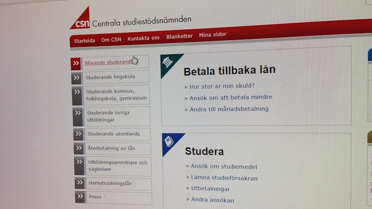 Bild på CSN:s hemsida.