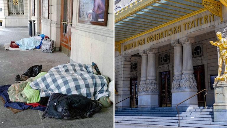 Hemlösa utanför dramaten