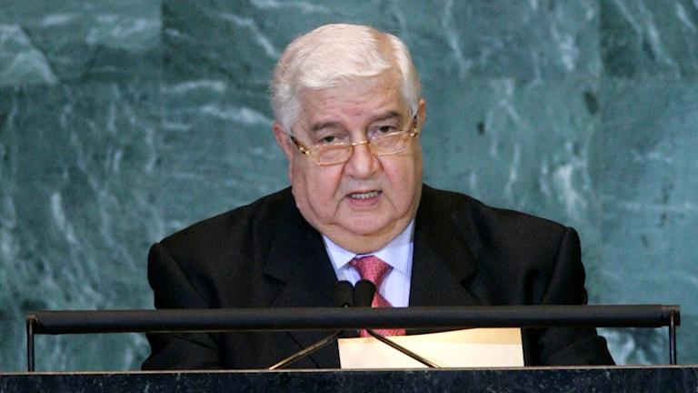 Syriens utrikesminister Walid al-Moualem. Foto: Frank Franklin II/AP