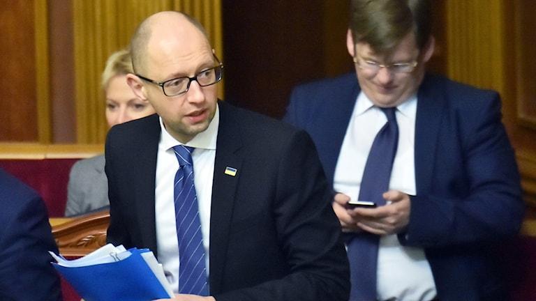 Ukrainas premiärminister Arsenij Jatsenjuk. Foto: Sergei Supinsky/TT.