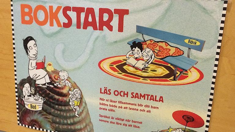 Kulturrådets projekt Bokstart till fler platser i landet. Foto: Carina Holmberg/Sveriges Radio