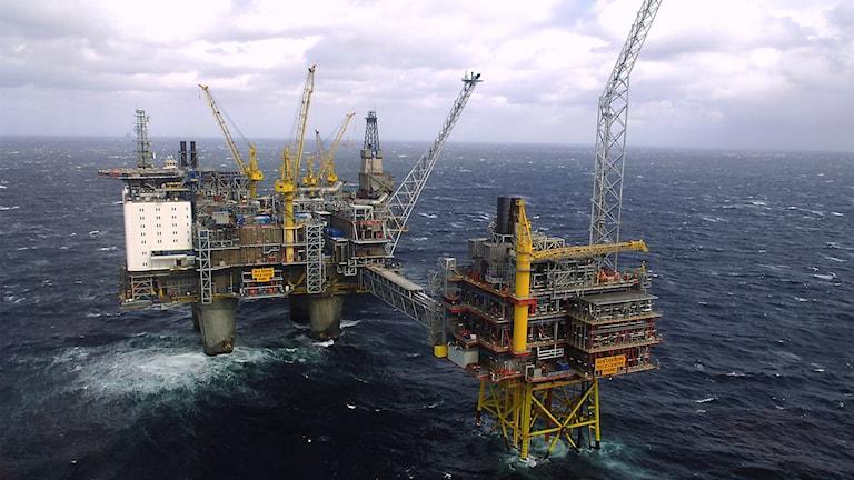 Oseberg oljeplattform i Norska Havet.