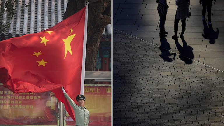 En svensk människorättsaktivist sitter gripen i Peking. Foto: Andy Wong/TT, Vincent Thian/TT