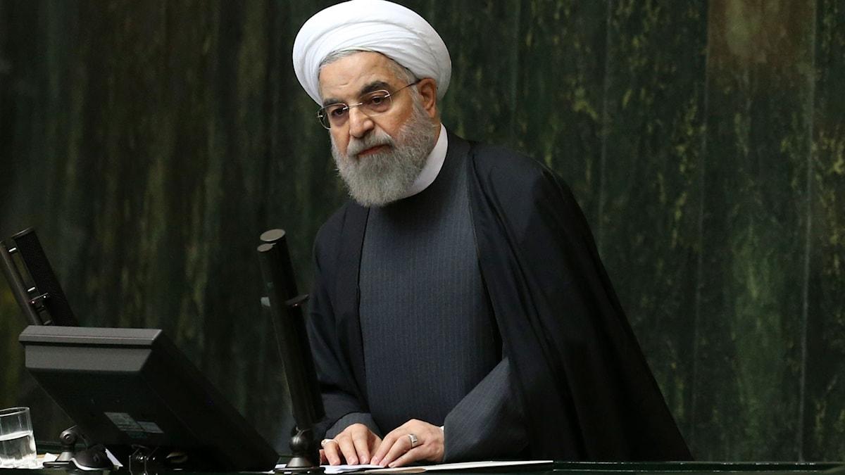 Irans president Hassan Rouhani. Foto: Vahid Salemi/AP/TT.