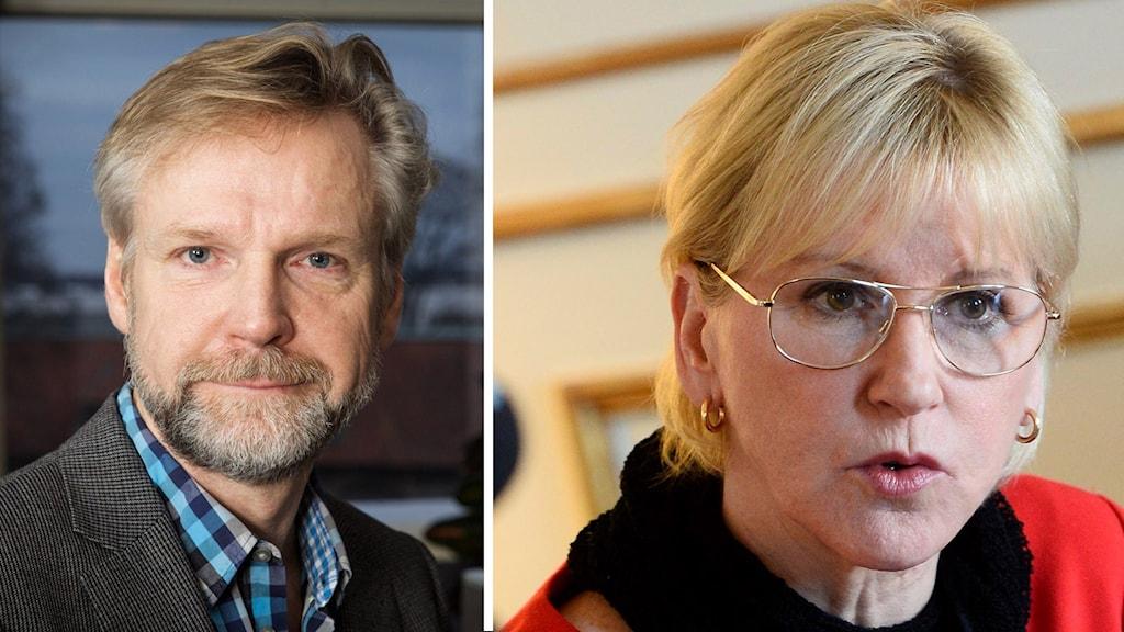 Tomas Ramberg och Margot Wallström. Foto: Pablo Dalence/SverigeRadio och Claudio Bresciani/TT.