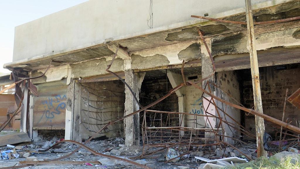 Hem som förstörts i byn Zummar i Irak sedan IS fördrivits av kurdiska styrkor. Foto: Amnesty International.