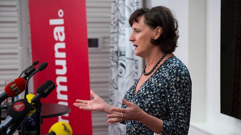Kommunals förbundsordförande Annelie Nordström. Foto: Henrik Montgomery/TT.