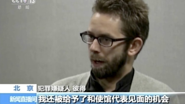 Swede Peter Dahlin appearing on Chinese TV. Photo: CCTV.