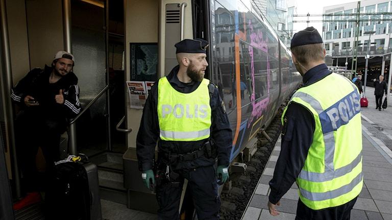Ausweiskontrolle in Malmö Foto: Stig-Åke Jönsson/TT.