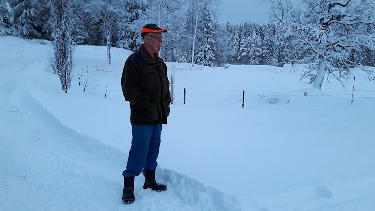 Rune Andersson i Seglora. Foto: Joel Wendle/Sveriges Radio.
