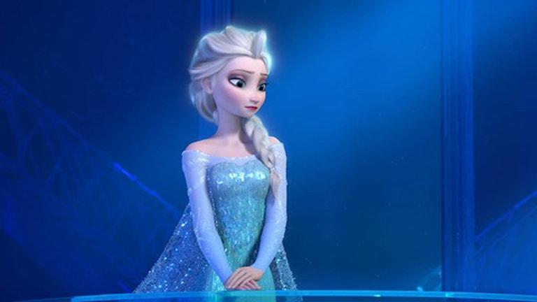 Filmkaraktären Elsa i filme Frost. Foto: TT.