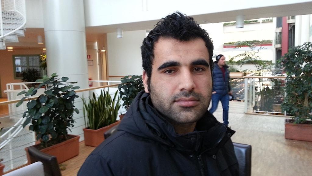 Mohammad Tariq Sarwari, arbetssökande från Afghanistan.