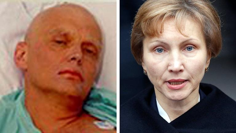 Delad bild: Alexander Litvinenko samt Marina Litvinenko. Foto: TT.