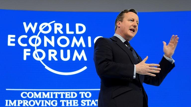 Cameron söker stöd inför slutförhandlingarna. Foto: Laurent Gillieron / TT