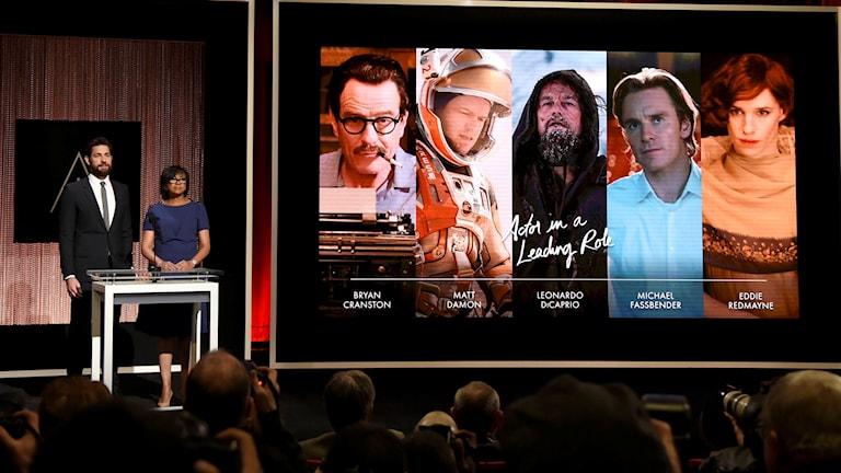 Nomineringar till Oscar tillkännages.