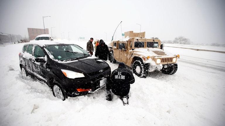 Snöstorm i USA. Foto: Alex Brandon/TT/AP