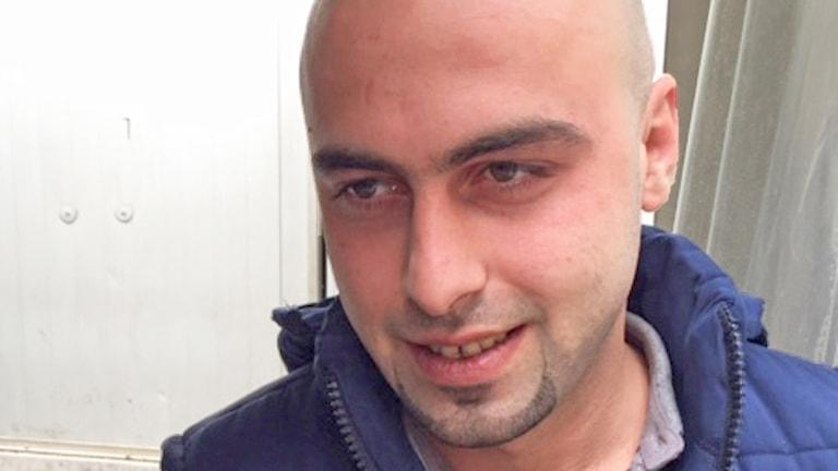 Mohammed på flykt i Libanon. Foto: Alice Petrén/Sveriges Radio.
