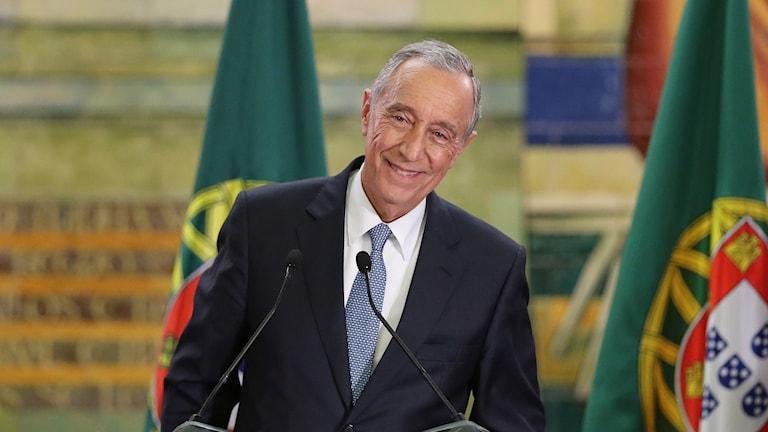 Marcelo Rebelo de Sousa, Portugals nyvalde president. Foto: Armando Franca/AP.