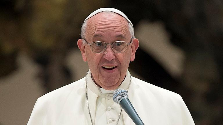 Påven Franciskus. Foto: L'Osservatore Romano/TT.