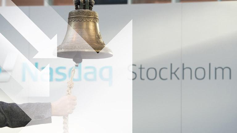 Stockholmsbörsen går ned efter nytt ras i Asien. Grafik: Johan Hallnäs. Foto: Fredrik Sandberg.