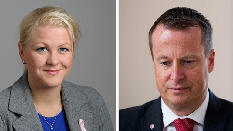 Ulrika Karlsson (M), ledamot i EU-nämnden, och Anders Ygeman (S), inrikesminister. Foto: Henrik Montgomery / TT.