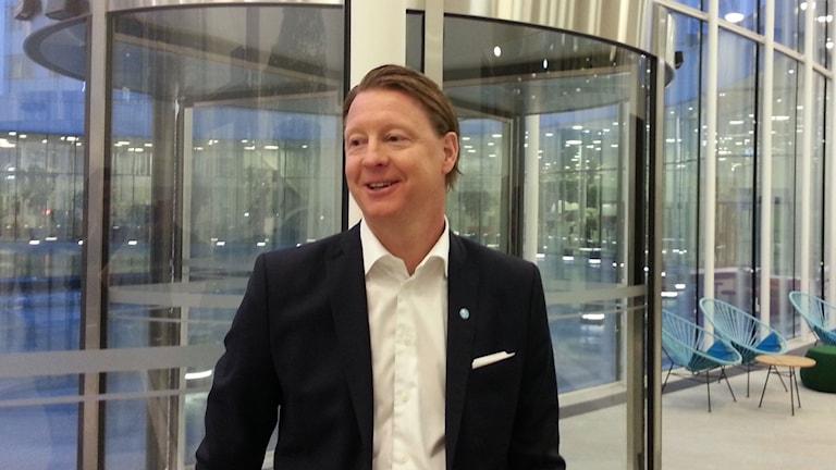 Hans Vestberg, vd för Ericsson. Foto: Anders Jelmin/ Sveriges Radio
