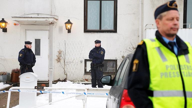 Behandlingshemmet för barn och unga i Mölndal där en kvinna knivskars till döds. Foto: Adam Ihse/TT.