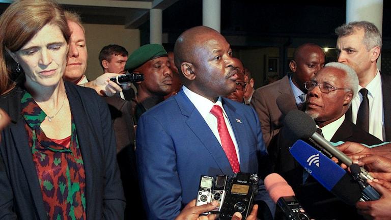 Burundis president Pierre Nkurunziza. Foto: TT.