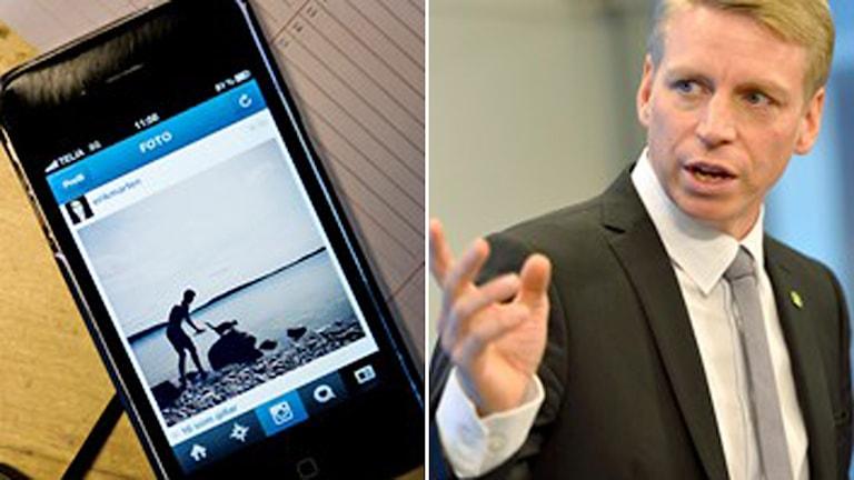Konsumentminister Per Bolund (MP) om åldersgräns på sociala medier Foto: TT