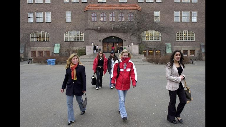 Skolgård i Stockholm.