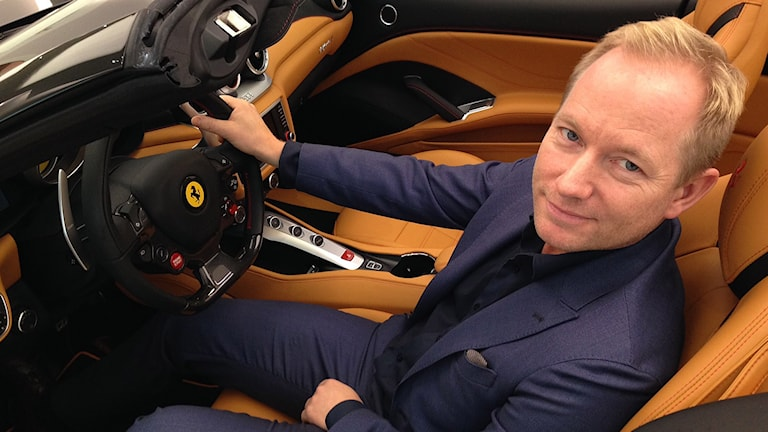 Autoropas vd Filip Larsson tror på ett rekordår. Foto: Annika Selin/ Sveriges Radio.