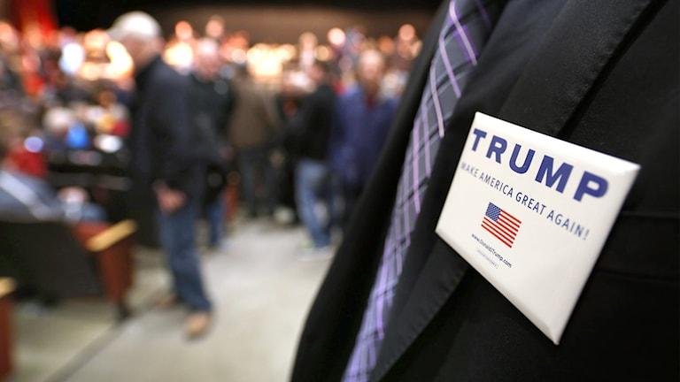 Trump kandiderar i Iowa.