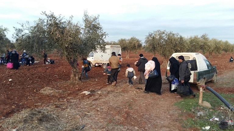 Hjälporganisationer har börjat sätta upp tält men flera byar har tömts på människor, säger Yasser.