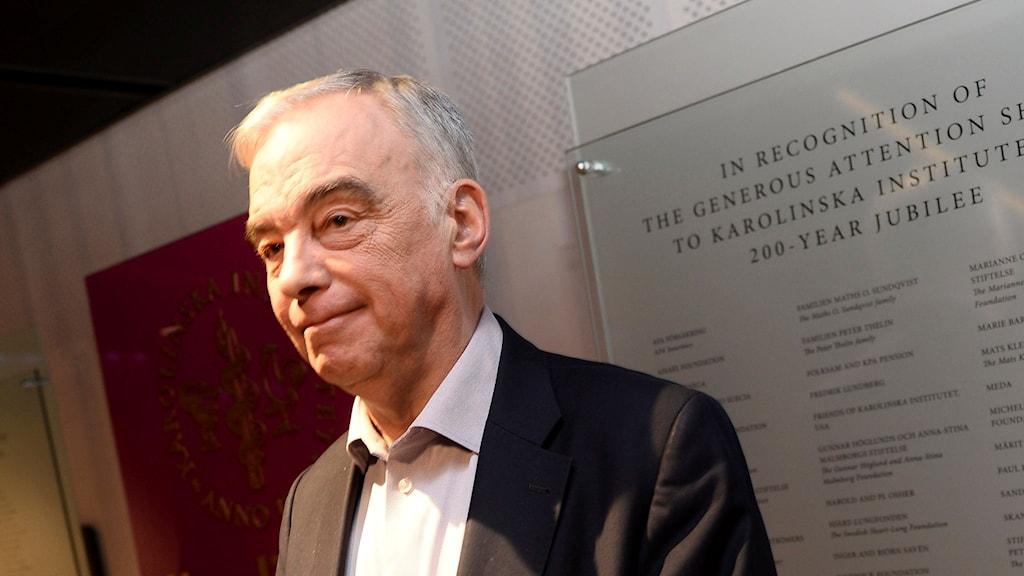 Lars Leijonborg, styrelseordförande för Karolinska institutet. Foto: Fredrik Sandberg/TT