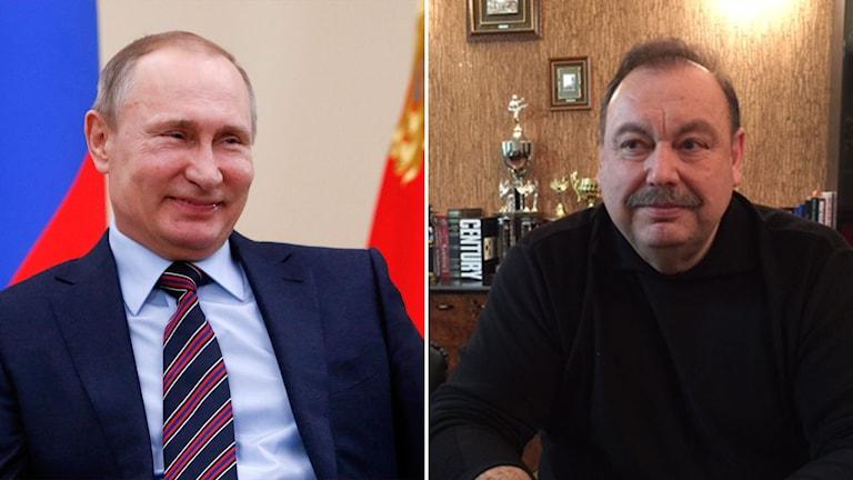 Vladimir Putin och Gennadij Gudkov.