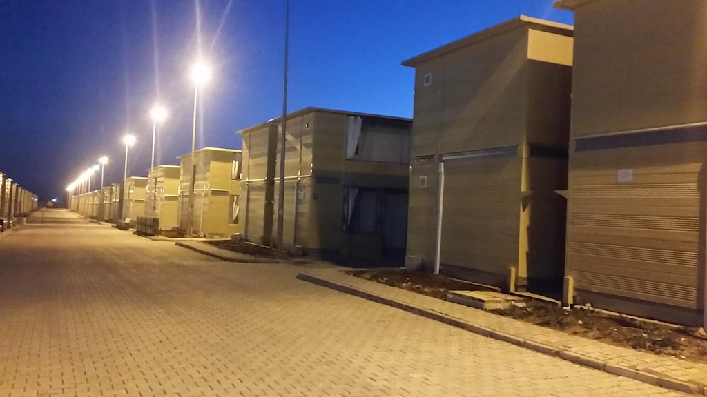 Nybyggda hus i flyktingläger i Kilis.