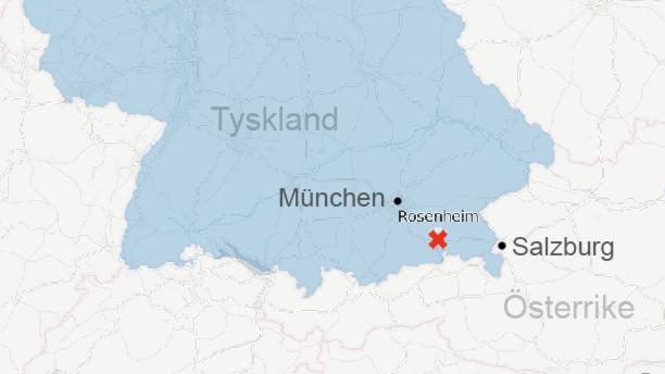 Tågolyckan vid Rosenheim i södra Tyskland