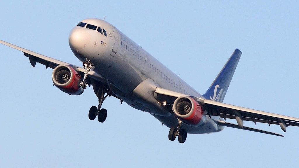 En Airbus 321 från flygbolaget SAS.