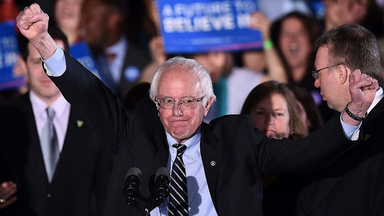Demokraternas presidentkandidatsaspirant Bernie Sanders.