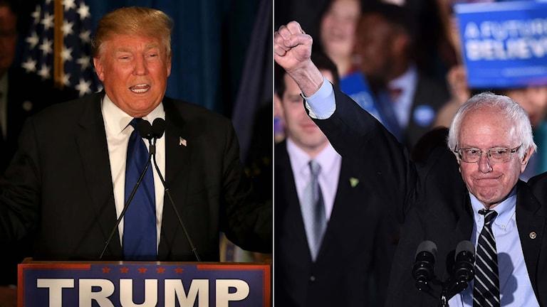 Republikanen Donald Trump och demokraten Bernie Sanders.
