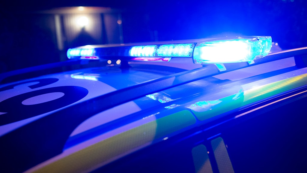 Blåljus polisbil