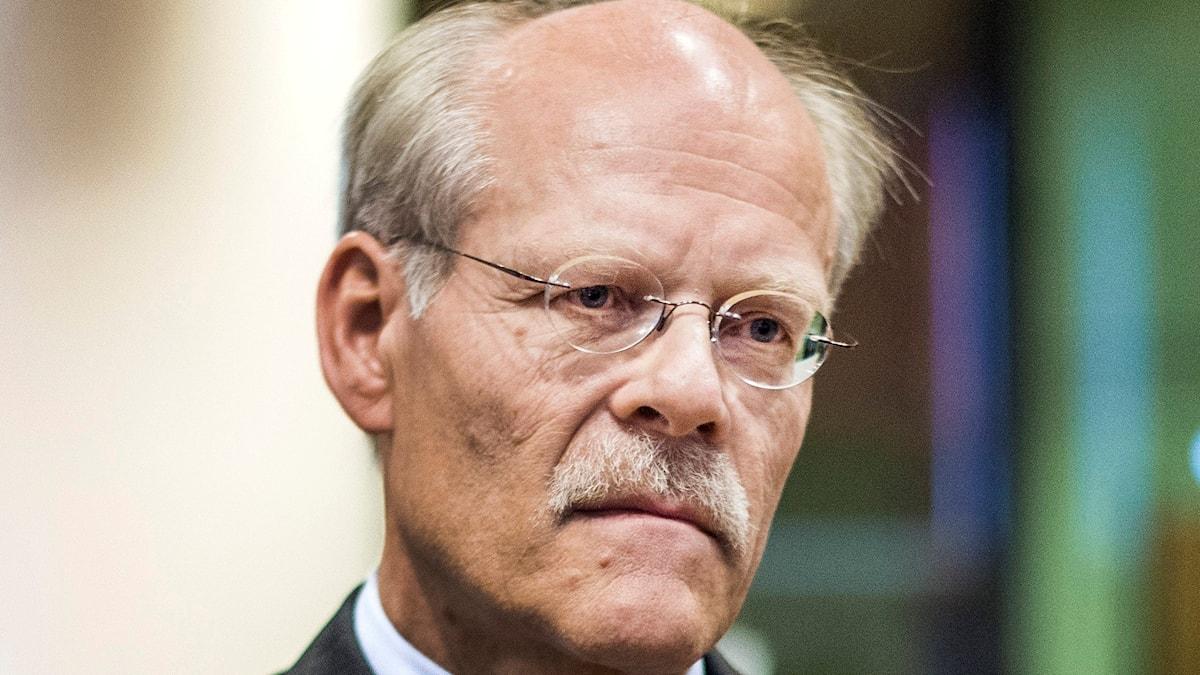 Stefan Ingves, chef för Sveriges Riksbank, presenterar riksbankens räntebeslut och penningpolitiska rapport. Foto: Marcus Ericsson/TT/
