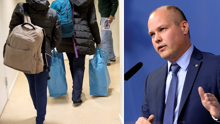 Morgan Johansson is the minister with responsibility for migration. Photo: TT Montage: Sveriges radio
