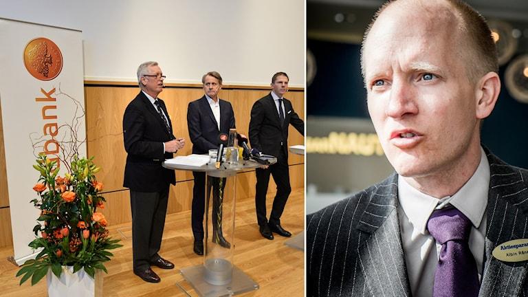 Albin Rännar på Aktiespararna. Foto: TT Montage: Sveriges radio