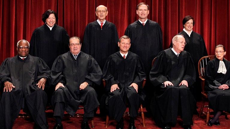 Domarna i USA:s Högsta Domstol