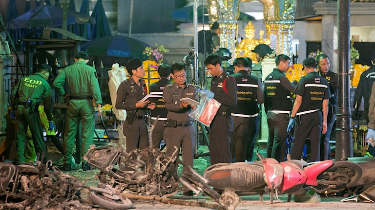 20 människor dog vid attentatet mot templet. Foto: Mark Baker/TT.