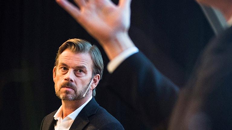 Swedbanks tidigare vd Michael Wolf. Foto: Nora Lorek/TT.