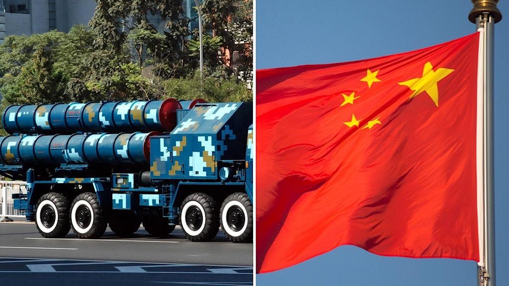 En militär källa i USA ska ha bekräftat att bilder tycks visa att Kina placerat luftvärnsrobotar på ön.