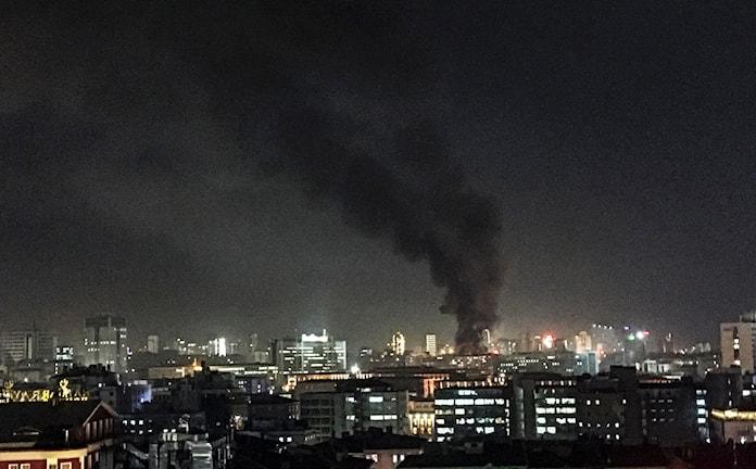 Explosion Ankara rök