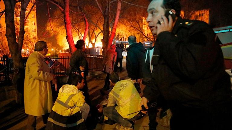Bild från dådet i Ankara, Turkiet